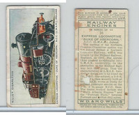 W62-198 Wills, Railway Engines, 1936, #16 Express Locomotive