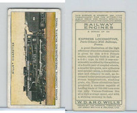 W62-198 Wills, Railway Engines, 1936, #17 Express Locomotive
