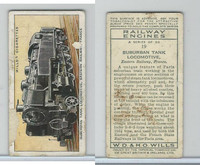 W62-198 Wills, Railway Engines, 1936, #19 Suburban Tank Locomotive