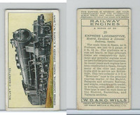 W62-198 Wills, Railway Engines, 1936, #20 Express Locomotive
