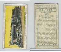 W62-198 Wills, Railway Engines, 1936, #27 2 Ft. 6 In. Gauge Locomotive