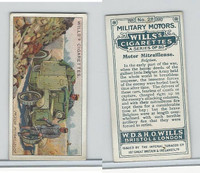 W62-88 Wills, Military Motors, 1916, #28 Motor Mitrallieuse