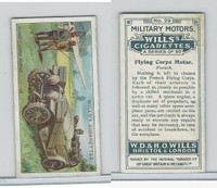 W62-88 Wills, Military Motors, 1916, #29 Flying Corps Motor