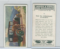 B116-0 BAT, Hints & Tips Motorists, 1929, #8 Test for Admustment of Brakes