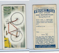 P0-0 Priory Tea, Cycles & Motorcycles, 1963, #7 Racing Bicycle