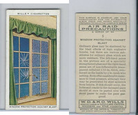 W62-191 Wills, Air Raid Precautions, 1938, #5 Window Protection Blast