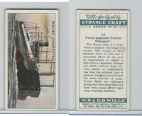 W62-182 Wills, Strange Craft, 1931, #46 Twin-masted Turret Steamer