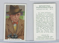 G12-99 Gallaher, Sporting Personalities, 1936, #11 Mr. Ivor Anthony, Jockey