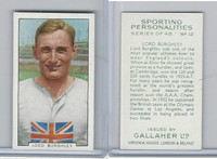 G12-99 Gallaher, Sporting Personalities, 1936, #12 Lord Burghley, Runner