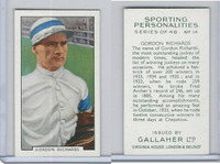 G12-99 Gallaher, Sporting Personalities, 1936, #14 Gordon Richards, Jockey