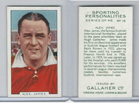 G12-99 Gallaher, Sporting Personalities, 1936, #15 Alex James, Football