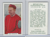 G12-99 Gallaher, Sporting Personalities, 1936, #16 Ted Phelps, Rowing