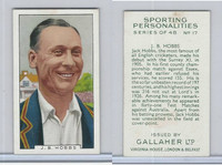 G12-99 Gallaher, Sporting Personalities, 1936, #17 J.B. Hobbs, Cricket