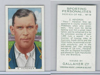 G12-99 Gallaher, Sporting Personalities, 1936, #18 E. Hendren, Cricket