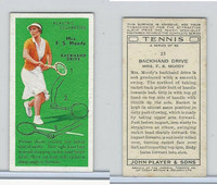 P72-175 Player, Tennis, 1936, #21 Mrs. F. S. Moody