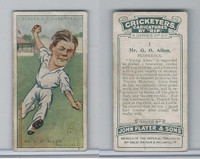 P72-83 Player, Cricketers Caricatures, 1926, #1 G.O. Allen, Middlesex