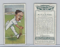 P72-83 Player, Cricketers Caricatures, 1926, #9 P.G.H. Fender, Surrey
