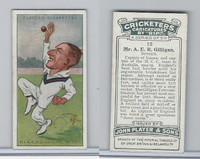 P72-83 Player, Cricketers Caricatures, 1926, #10 A.E.R. Gilligan, Sussex