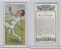 P72-83 Player, Cricketers Caricatures, 1926, #11 J.M. Gregory, New South Wales
