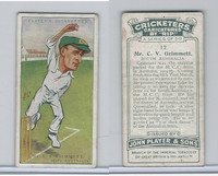 P72-83 Player, Cricketers Caricatures, 1926, #12 C.V. Grimmett, South Australia