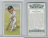 P72-83 Player, Cricketers Caricatures, 1926, #13 George Gunn, Notts