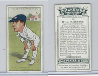 P72-83 Player, Cricketers Caricatures, 1926, #15 W.R. Hammond, Gloucestershire