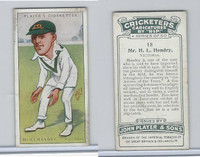 P72-83 Player, Cricketers Caricatures, 1926, #18 M.L. Hendry, Victoria