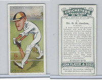 P72-83 Player, Cricketers Caricatures, 1926, #21 D.R. Jardine, Surrey