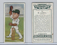 P72-83 Player, Cricketers Caricatures, 1926, #24 B. Lilley, Notts