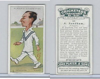 P72-83 Player, Cricketers Caricatures, 1926, #40 A. Sandham, Surrey