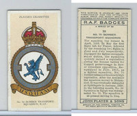 P72-172a Player, RAF Badges (No Motto), 1937, #39 70 Bomber Transport Squad