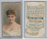 N264 Lorillard, Red Cross Long Cut/Sensation, Actresses, 1892, Hetty Hamer