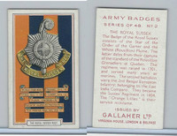 G12-72 Gallaher, Army Badges, 1939, #2 The Royal Sussex