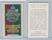 G12-72 Gallaher, Army Badges, 1939, #11 Border Regiment