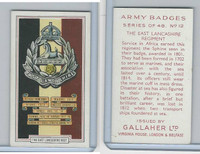 G12-72 Gallaher, Army Badges, 1939, #12 East Lancashire Regiment