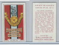 G12-72 Gallaher, Army Badges, 1939, #14 Loyal Regiment