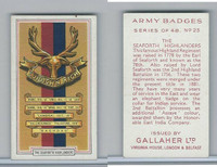 G12-72 Gallaher, Army Badges, 1939, #23 Seaforth Highlanders
