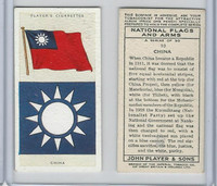 P72-171 Player, National Flags & Arms, 1936, #10 China