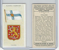 P72-171 Player, National Flags & Arms, 1936, #17 Finland