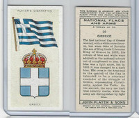 P72-171 Player, National Flags & Arms, 1936, #20 Greece