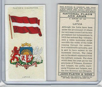 P72-171 Player, National Flags & Arms, 1936, #27 Latvia