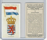 P72-171 Player, National Flags & Arms, 1936, #29 Luxemburg