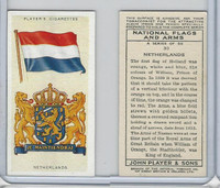 P72-171 Player, National Flags & Arms, 1936, #30 Netherlands