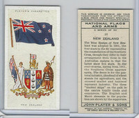 P72-171 Player, National Flags & Arms, 1936, #31 New Zealand