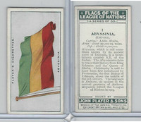 P72-97 Player, Flags League Nations, 1928, #1 Abyssinia