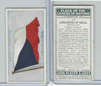 P72-97 Player, Flags League Nations, 1928, #14 Czechoslovakia