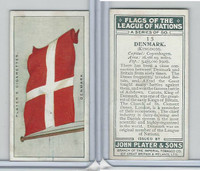 P72-97 Player, Flags League Nations, 1928, #15 Denmark