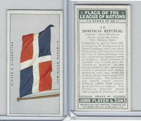 P72-97 Player, Flags League Nations, 1928, #16 Dominican Repubic