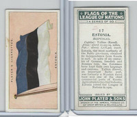 P72-97 Player, Flags League Nations, 1928, #17 Estonia