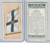 P72-97 Player, Flags League Nations, 1928, #18 Finland
